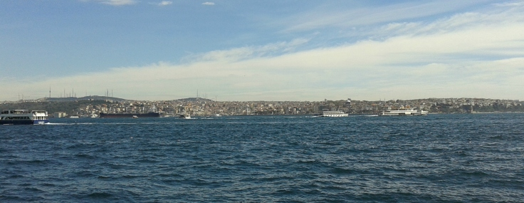 Istanbul, view from Besiktas, facing southwest.