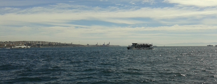 Istanbul, view from Besiktas, facing southeast.