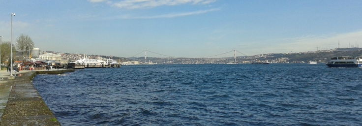 Istanbul, view from Besiktas, facing west.